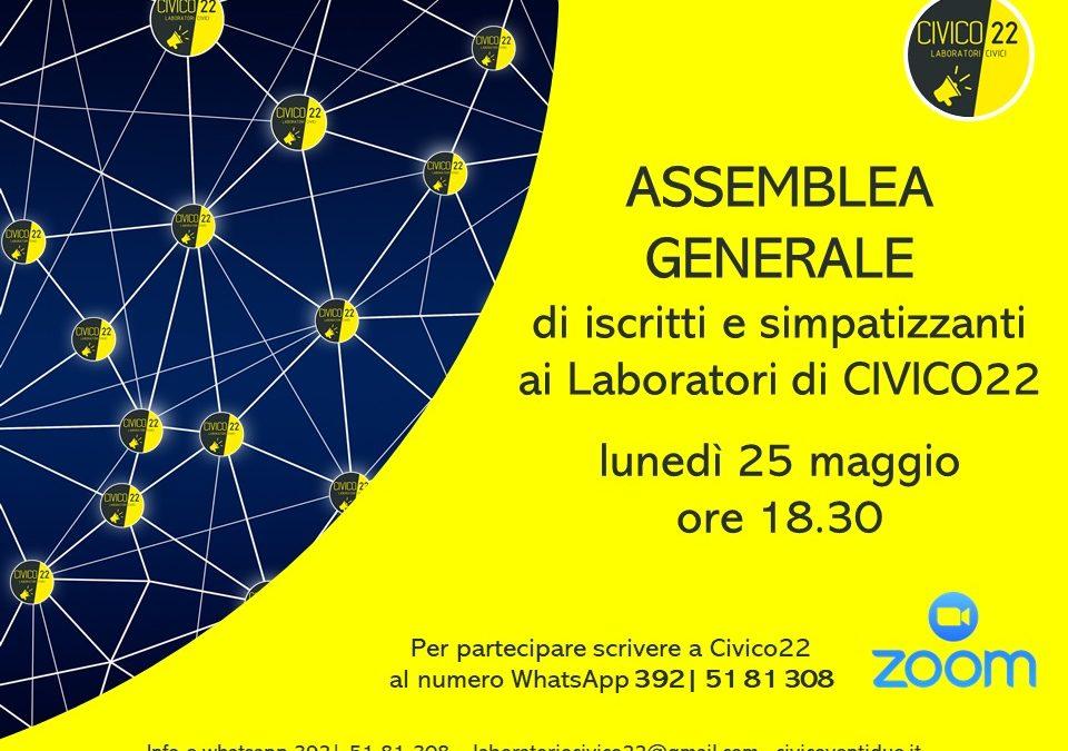 Assemblea generale di iscritti e simpatizzanti ai Laboratori di Civico22