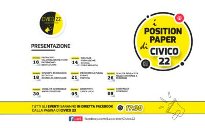 Presentazione dei Position Paper di Civico22